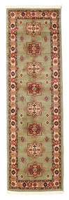 Marivan Kazak Rug 80X250 Oriental Hallway Runner  Light Brown/Light Green ( Turkey)