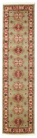 Marivan Kazak Rug 80X300 Oriental Hallway Runner  Light Brown/Dark Red ( Turkey)