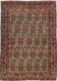 Senneh Rug 140X200 Authentic  Oriental Handknotted Dark Brown/Dark Red (Wool, Persia/Iran)