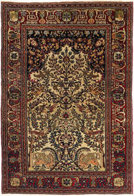 Isfahan Antique Rug 140X205 Authentic  Oriental Handknotted Dark Red/Light Brown (Wool, Persia/Iran)