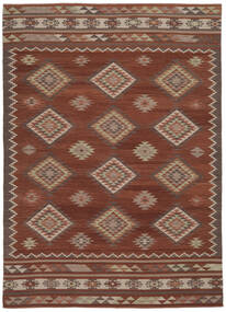 Kilim Malatya Rug 240X340 Authentic  Modern Handwoven Light Brown/Brown (Wool, India)