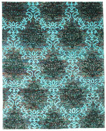 Kamala Rug 200X250 Authentic  Modern Handknotted Dark Turquoise   (Silk, India)
