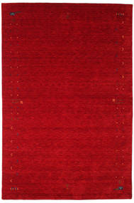Gabbeh Loom Frame - Red Rug 190X290 Modern Crimson Red/Dark Red (Wool, India)