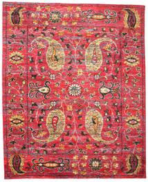 Vega Sari Silke Matta 240X300 Äkta Modern Handknuten Röd/Mörkbrun (Silke, Indien)