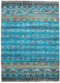Quito - Turquoise Rug 240X340 Authentic  Modern Handknotted Turquoise Blue/Blue (Silk, India)