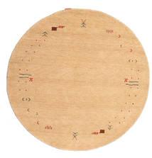 Gabbeh Loom Frame - Beige Alfombra Ø 150 Moderna Redonda Beige Oscuro/Marrón Claro (Lana, India)