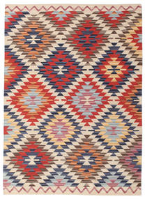 Kilim Oushak Rug 140X200 Authentic  Modern Handwoven Rust Red/Beige (Wool, India)