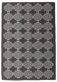 Zakai - Dark Grey Rug 160X230 Authentic  Modern Handwoven Dark Grey/Light Grey (Wool, India)