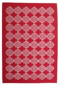 Zakai Tæppe 200X300 Ægte Moderne Håndvævet Rød/Lyserød (Uld, Indien)