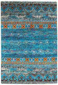 Quito - Turquoise Rug 160X230 Authentic  Modern Handknotted Dark Turquoise  /Turquoise Blue (Silk, India)