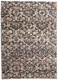 Reina Rug 160X230 Authentic  Modern Handknotted Dark Brown/Light Brown/Light Grey (Silk, India)
