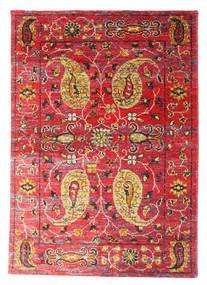 Vega Sari Jedwab Dywan 160X230 Nowoczesny Tkany Ręcznie Rdzawy/Czerwony/Ciemnoczerwony (Jedwab, Indie)