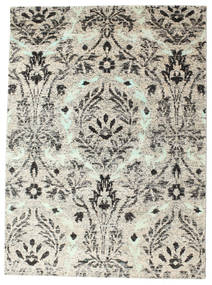 Lennox Rug 140X200 Authentic  Modern Handknotted Light Grey/Beige (Silk, India)