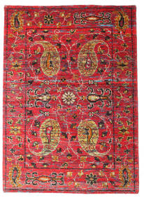 Vega Sari Silk Rug 140X200 Authentic Modern Handknotted Rust Red/Brown (Silk, India)