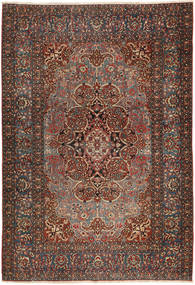 Isfahan Antique Rug 138X207 Authentic Oriental Handknotted Dark Grey/Dark Red (Wool, Persia/Iran)