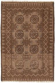 Afghan Rug 73X113 Authentic  Oriental Handknotted Brown/Dark Brown (Wool, Afghanistan)