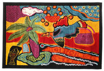 Tomorrow Is Another Day Alfombra 140X200 Moderna Negro/Naranja ( Turquía)