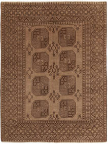 Afghan Rug 154X199 Authentic  Oriental Handknotted Brown/Dark Brown (Wool, Afghanistan)