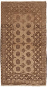 Afghan Rug 97X185 Authentic  Oriental Handknotted Brown/Light Brown (Wool, Afghanistan)