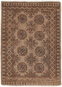 Afghan Matto 77X107 Itämainen Käsinsolmittu Ruskea/Vaaleanruskea/Tummanruskea (Villa, Afganistan)