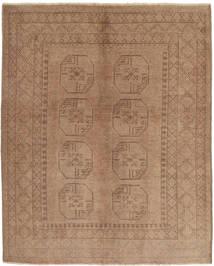 Afghan Matto 148X185 Itämainen Käsinsolmittu Vaaleanruskea/Ruskea (Villa, Afganistan)