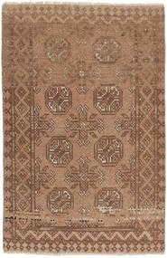 Afghan Matto 74X111 Itämainen Käsinsolmittu Ruskea/Vaaleanruskea (Villa, Afganistan)