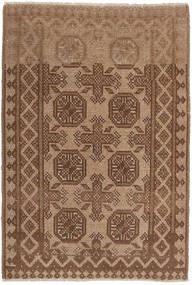 Afghan Rug 69X109 Authentic  Oriental Handknotted Brown (Wool, Afghanistan)