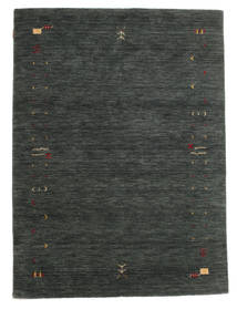 Gabbeh Loom Frame - Dark Grey/Green Rug 140X200 Modern Dark Green (Wool, India)
