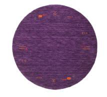 Gabbeh Loom Frame - Purper Vloerkleed Ø 150 Modern Rond Donkerpaars/Purper (Wol, India)
