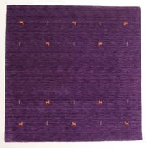 Gabbeh Loom Two Lines - Violet Tapis 200X200 Moderne Carré Violet Foncé/Violet (Laine, Inde)