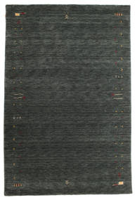 Gabbeh Loom Frame - Dark Grey/Green Rug 190X290 Modern Dark Green/Dark Grey (Wool, India)