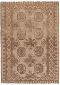 Afghan Rug 75X112 Authentic  Oriental Handknotted Brown/Light Brown (Wool, Afghanistan)