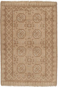 Afghan Rug 72X111 Authentic  Oriental Handknotted Brown/Light Brown (Wool, Afghanistan)