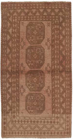Afghan Rug 96X188 Authentic  Oriental Handknotted Brown (Wool, Afghanistan)