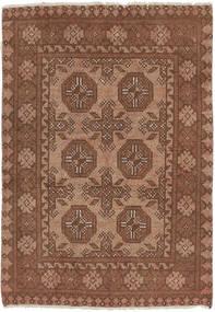Afghan Matto 76X110 Itämainen Käsinsolmittu Ruskea/Vaaleanruskea (Villa, Afganistan)