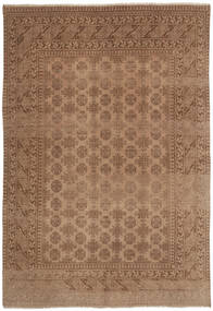 Afghan Teppe 193X278 Ekte Orientalsk Håndknyttet Brun/Lysbrun (Ull, Afghanistan)