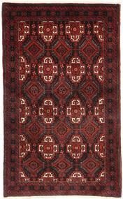 Beludż Dywan 95X160 Orientalny Tkany Ręcznie Ciemnoczerwony/Ciemnobrązowy (Wełna, Persja/Iran)