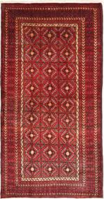 Beluch Matta 105X205 Äkta Orientalisk Handknuten Mörkröd (Ull, Persien/Iran)