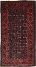 Beluch Tæppe 100X180 Ægte Orientalsk Håndknyttet Mørkebrun/Mørkerød (Uld, Persien/Iran)
