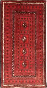 バルーチ 絨毯 105X197 オリエンタル 手織り 深紅色の/錆色 (ウール, ペルシャ/イラン)