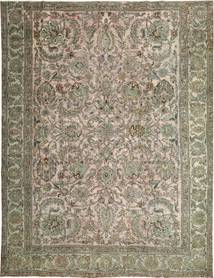 Colored Vintage Tapis 280X360 Moderne Fait Main Gris Clair/Vert Olive Grand (Laine, Perse/Iran)