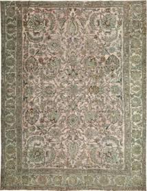 Colored Vintage Tapis 280X360 Moderne Fait Main Gris Clair/Vert Olive Grand (Laine, Perse/Iran)