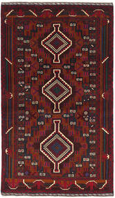 Baluch Rug 112X186 Authentic  Oriental Handknotted Dark Red (Wool, Afghanistan)