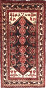 Belutsch Teppich  93X177 Echter Orientalischer Handgeknüpfter Dunkelrot/Braun (Wolle, Persien/Iran)