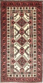 Beluch Tappeto 95X190 Orientale Fatto A Mano Rosso Scuro/Beige (Lana, Persia/Iran)