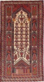 Beludż Dywan 105X195 Orientalny Tkany Ręcznie Ciemnoczerwony/Brązowy (Wełna, Persja/Iran)