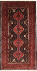 Beluch Matta 110X207 Äkta Orientalisk Handknuten Mörkröd/Mörkbrun (Ull, Persien/Iran)