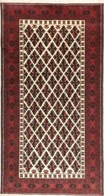 Beluch Tæppe 105X195 Ægte Orientalsk Håndknyttet Brun/Mørkebrun (Uld, Persien/Iran)