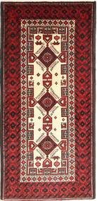 Belouch Alfombra 97X203 Oriental Hecha A Mano Rojo Oscuro/Beige (Lana, Persia/Irán)