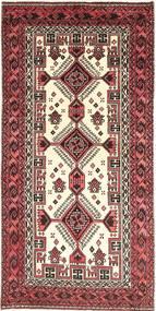 Baluch Rug 107X195 Authentic Oriental Handknotted Dark Brown/Beige (Wool, Persia/Iran)
